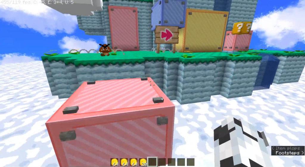 Super Mario blocks Minecraft