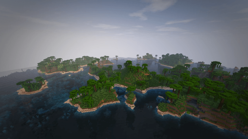Minecraft World vanilla biomes