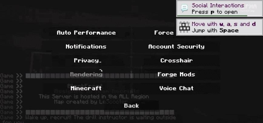 WW2 Minecraft mod settings