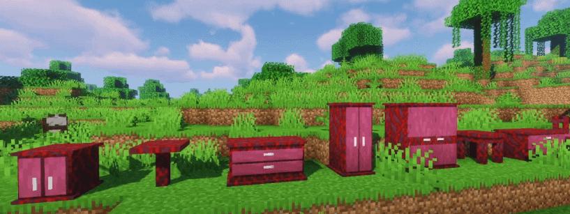 minecraft color furniture