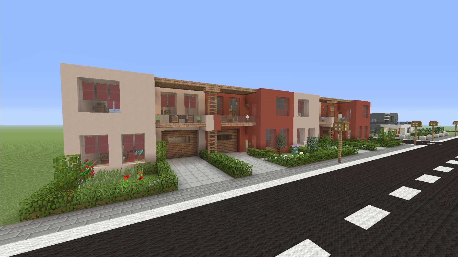 Minecraft How To Make Row Houses Xbox One Minecraft Building Inc