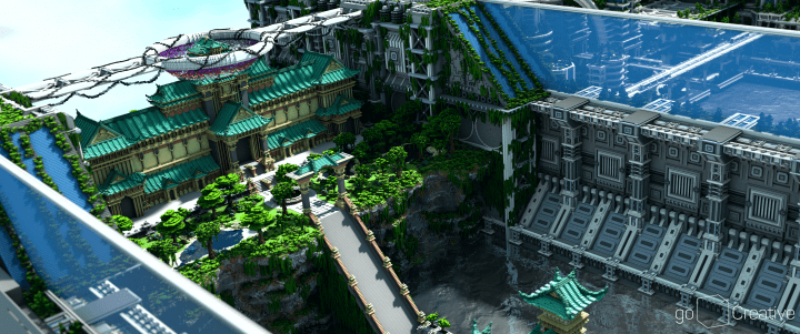 Banghai City and The Palace of Leng Minecraft Building Ideas download chineese city amazing complete save