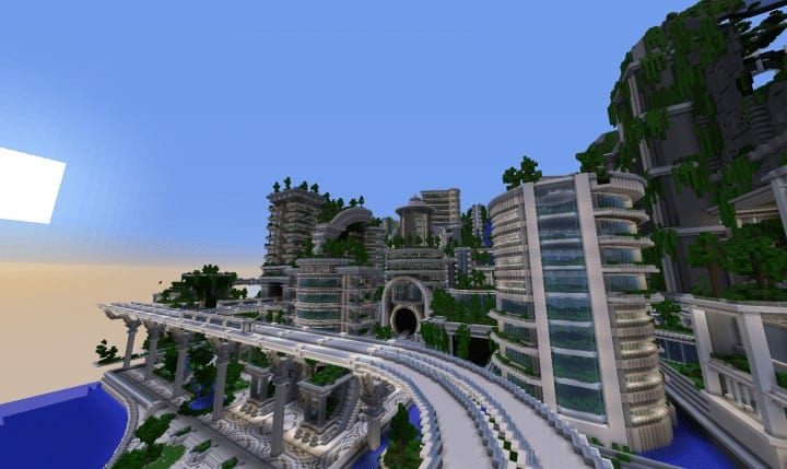 Banghai City and The Palace of Leng Minecraft Building Ideas download chineese city amazing complete save 11