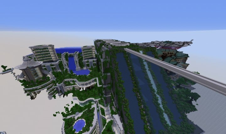 Banghai City and The Palace of Leng Minecraft Building Ideas download chineese city amazing complete save 13