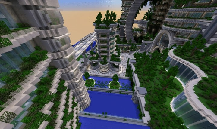 Banghai City and The Palace of Leng Minecraft Building Ideas download chineese city amazing complete save 15