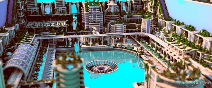 Banghai City and The Palace of Leng Minecraft Building Ideas download chineese city amazing complete save 2