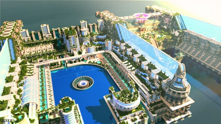 Banghai City and The Palace of Leng Minecraft Building Ideas download chineese city amazing complete save 3