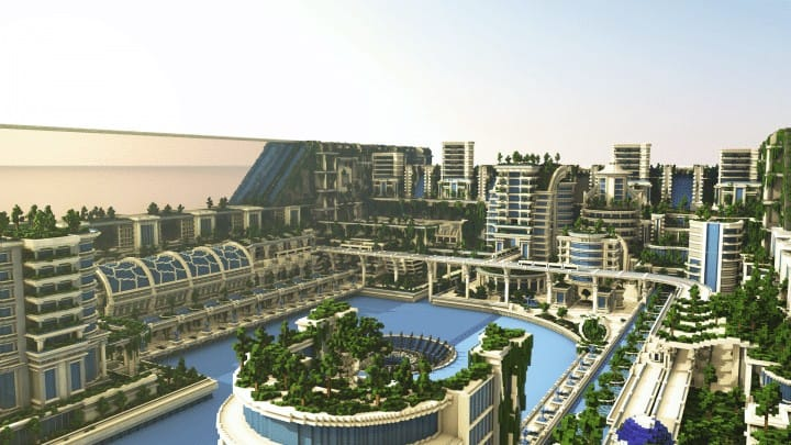 Banghai City and The Palace of Leng Minecraft Building Ideas download chineese city amazing complete save 5