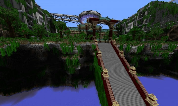 Banghai City and The Palace of Leng Minecraft Building Ideas download chineese city amazing complete save 6