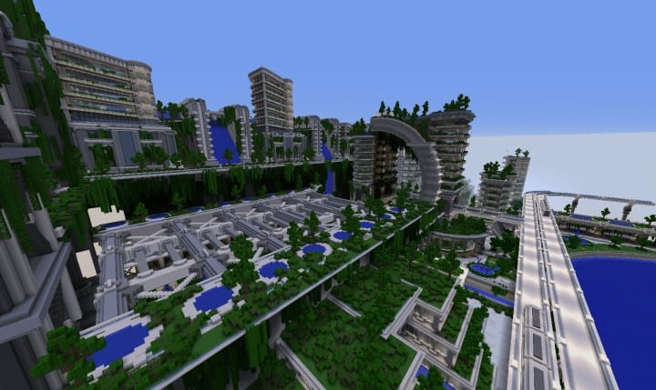 Banghai City and The Palace of Leng Minecraft Building Ideas download chineese city amazing complete save 7