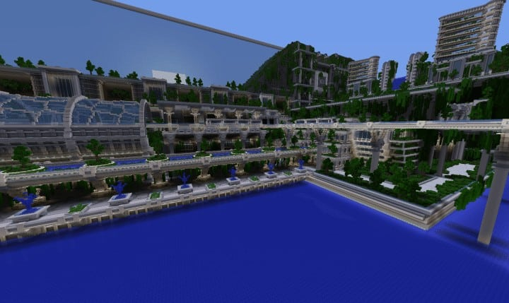 Banghai City and The Palace of Leng Minecraft Building Ideas download chineese city amazing complete save 8