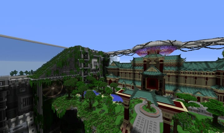 Banghai City and The Palace of Leng Minecraft Building Ideas download chineese city amazing complete save 9