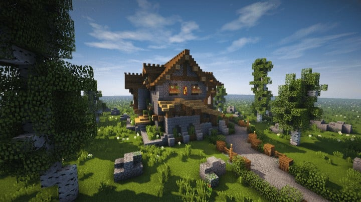 Cozy little medieval house timelapse download for Time to build a house