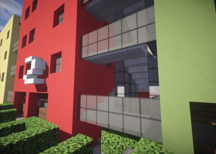 Colorful Apartments Minecraft Building Inc