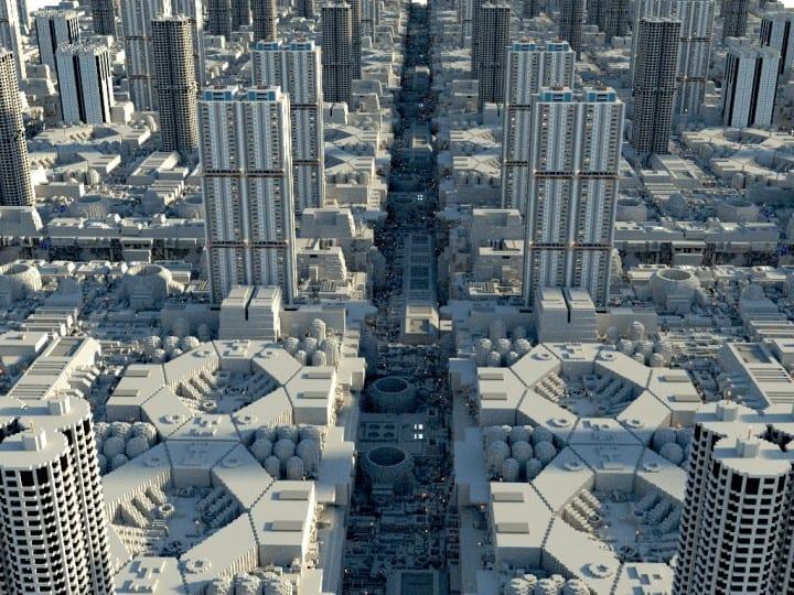 Galactic City Coruscant Star Wars Minecraft Building Inc