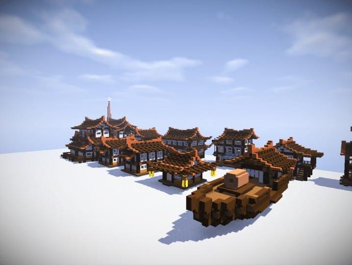 Japan Houses Bundle Minecraft Building Inc