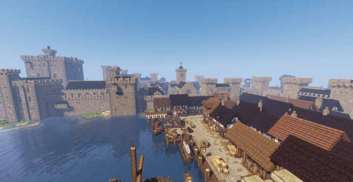 Medieval Castle And Town Minecraft Building Inc