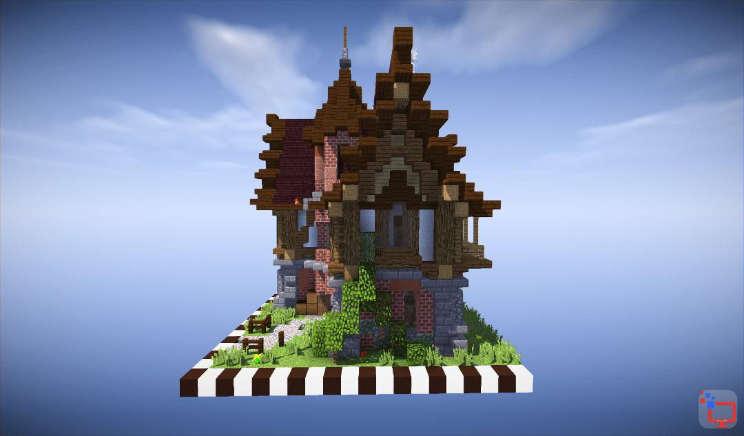 Mediveal Minecraft House Timelapse Speed Build Free