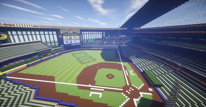 Miller park wisconsin minecraft building inc for Craft fairs milwaukee wi