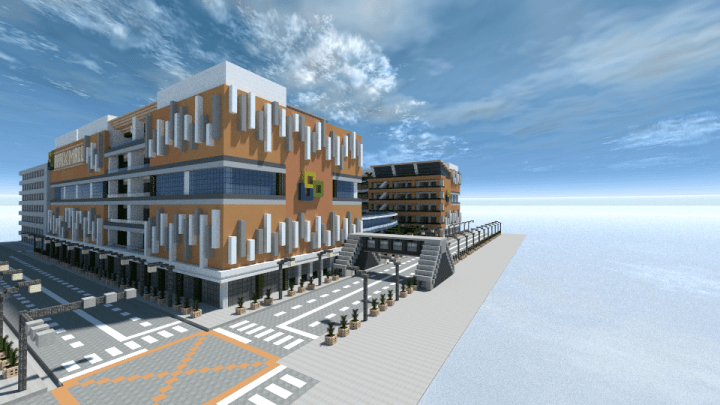 Download Shopping Mall Minecraft Mall Interior PNG