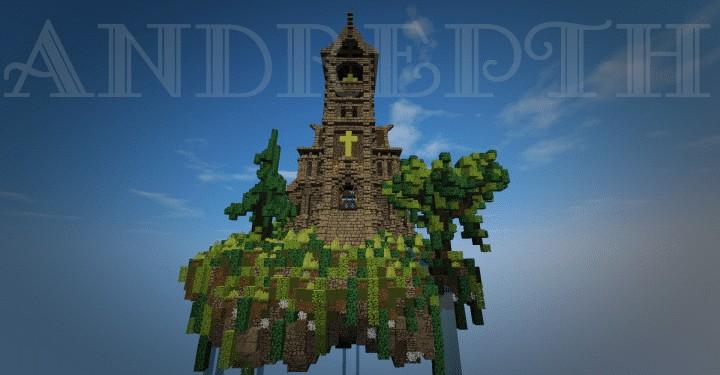 phaendar-medieval-church-island-minecraft-build-floating-3