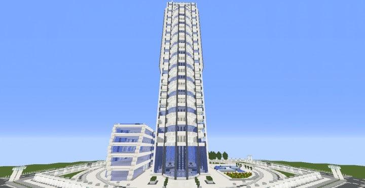 Quartz Tower 10 Minecraft Building Inc