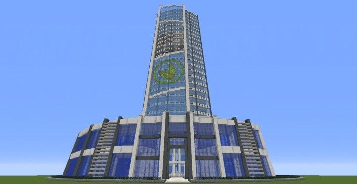 Quartz Tower 6 Minecraft Building ideas download city amazing tower skyscraper save 2