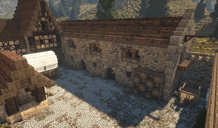Rich Medieval Vineyard Minecraft Building Inc