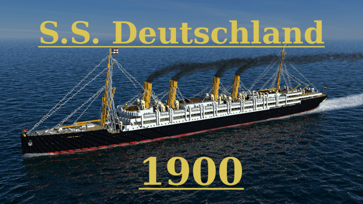 Photo of S.S. Deutschland 1900