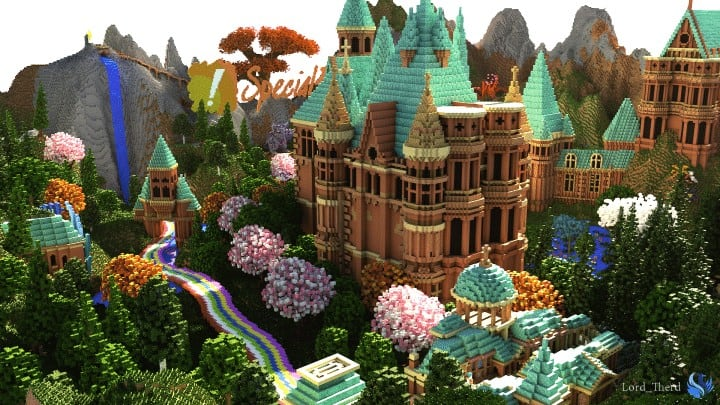 Special Effect Wonderland castle amzing beautiful download minecraft building ideas save 3