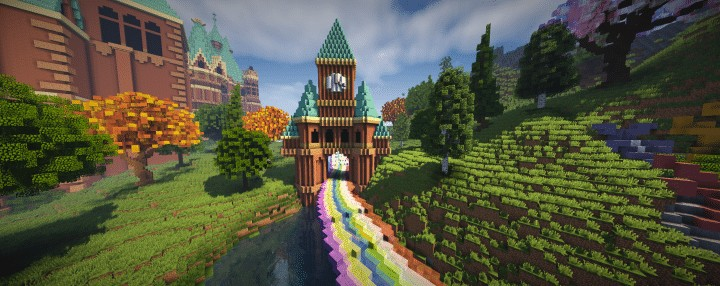 Special Effect Wonderland castle amzing beautiful download minecraft building ideas save 4