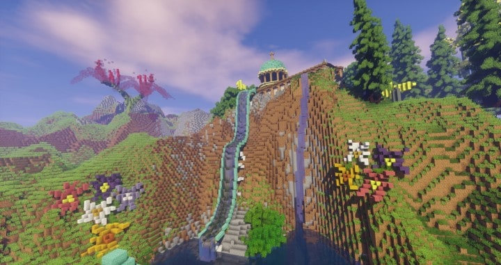 Special Effect Wonderland castle amzing beautiful download minecraft building ideas save 6