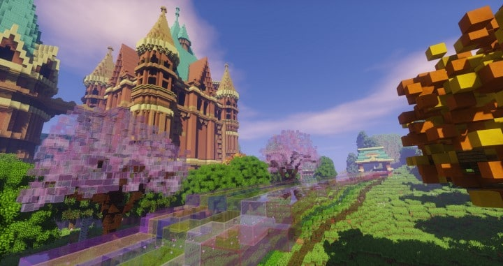 Special Effect Wonderland castle amzing beautiful download minecraft building ideas save 7
