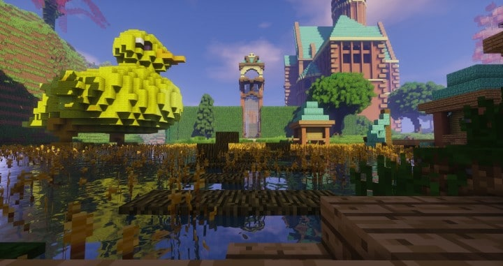Special Effect Wonderland castle amzing beautiful download minecraft building ideas save 9