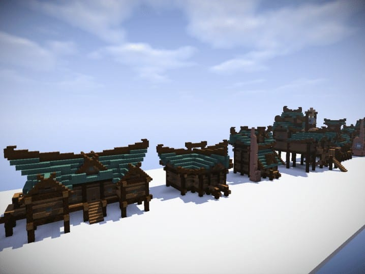 swamp houses building bundle  u2013 minecraft building inc