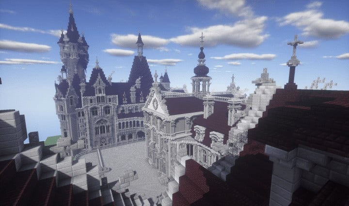 the-moszna-castle-a-gothic-and-baroque-castle-minecraft-building-ideas-download-save-detail-crazy-3