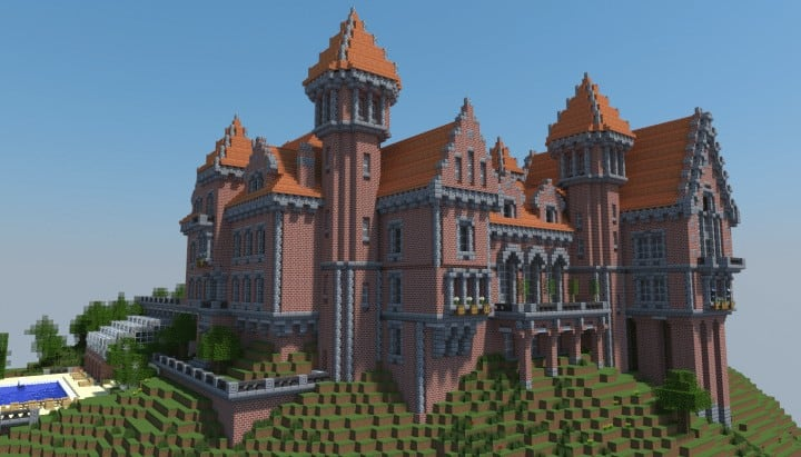 The Red Castle Le Chateau Rouge Minecraft Building Inc