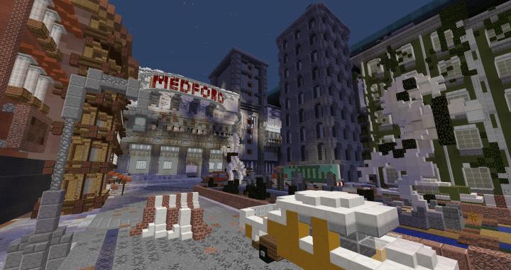 скачать карту заброшенный город для майнкрафт #7