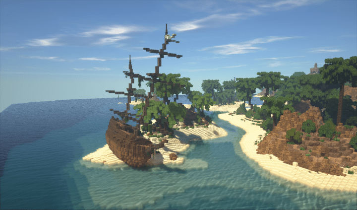Minecraft Tropical Island: Tropical Island Full Of Places To Explore