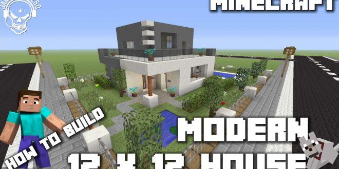 Minecraft How to make a modern 12 x 12 house xbox one Minecraft