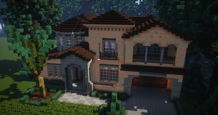 Mediterranean style traditional house minecraft for Mediterranean style modular homes